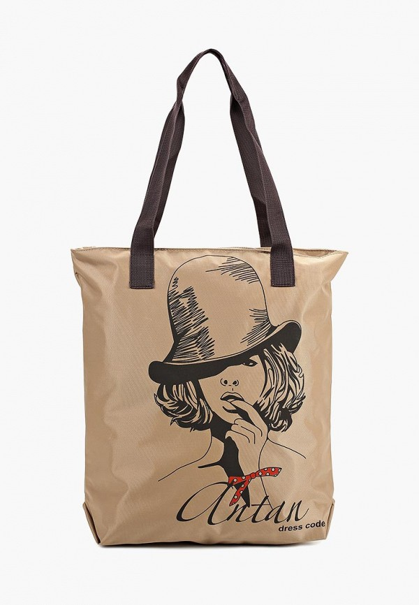 женская сумка antan, бежевая