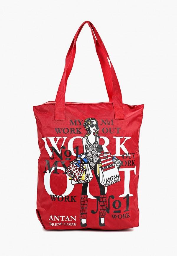 женская сумка antan, красная