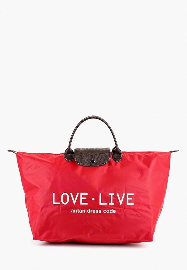 женская дорожные сумка antan, красная