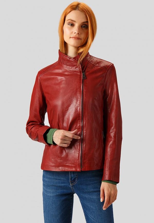 Купить Куртка кожаная Finn Flare, MP002XW1CSNR, красный, Осень-зима 2018/2019