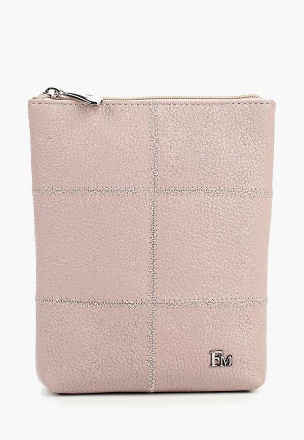 женская сумка через плечо franchesco mariscotti, розовая