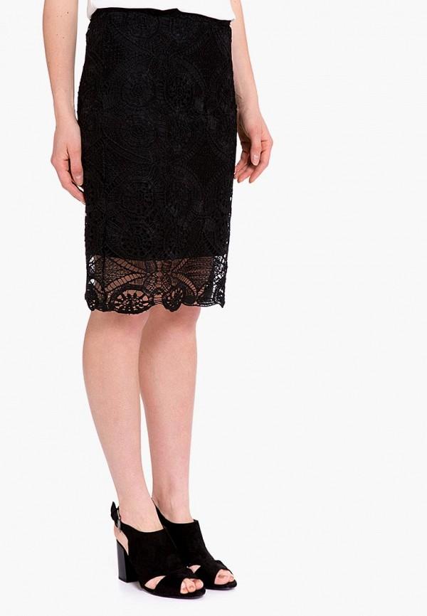женская прямые юбка lc waikiki, черная