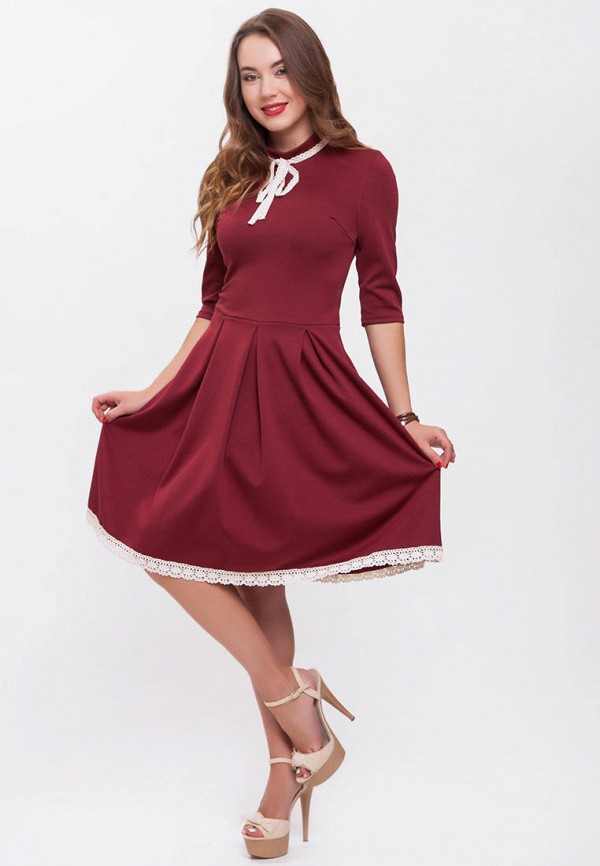 женское повседневные платье xarizmas, бордовое