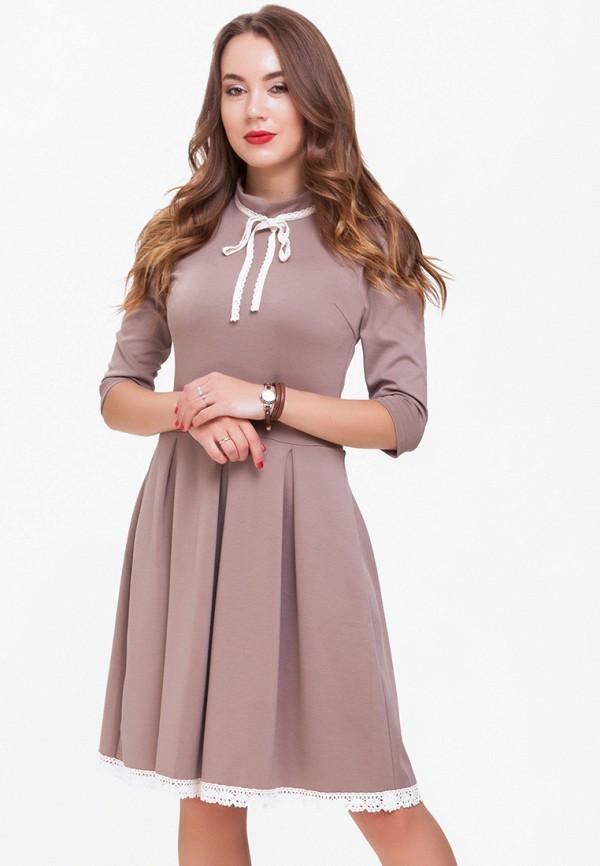 женское повседневные платье xarizmas, коричневое