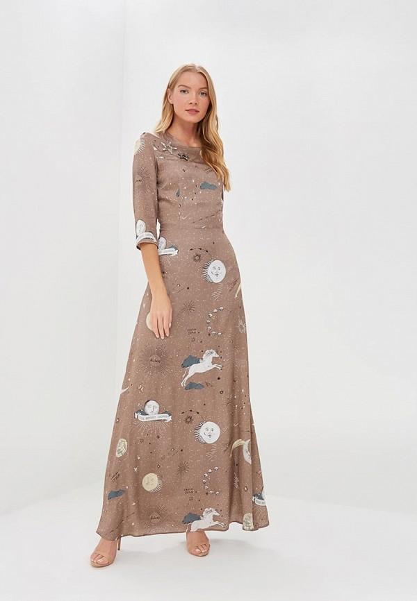 женское вечерние платье ksenia knyazeva, коричневое