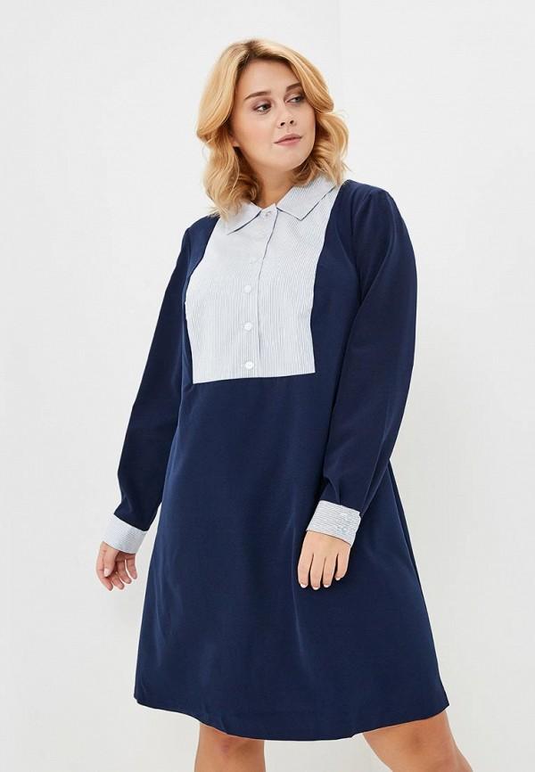 женское повседневные платье jp, синее