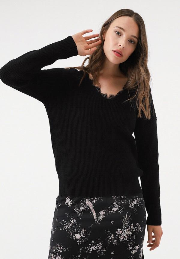 женский пуловер lime, черный