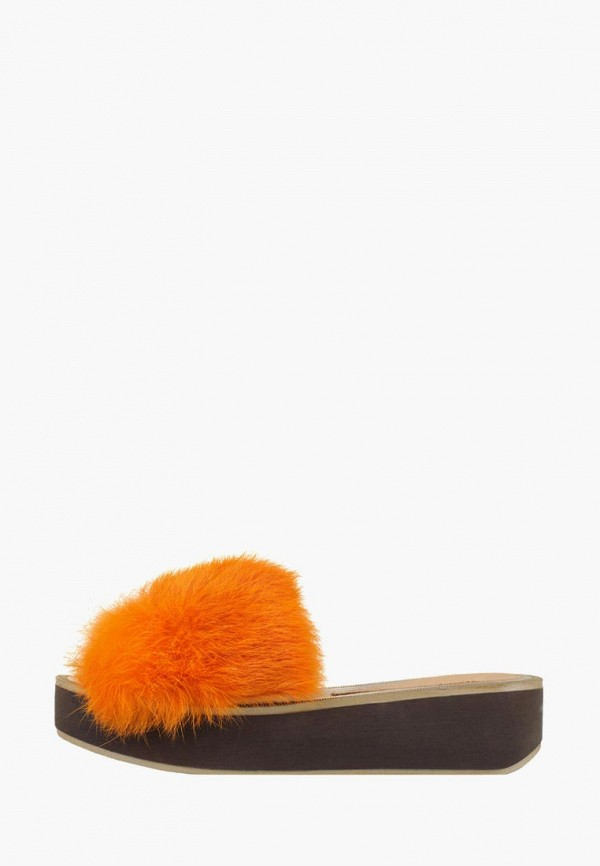 женское сабо litvin, оранжевое