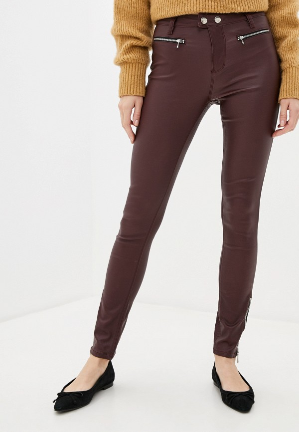 женские повседневные брюки tom farr, бордовые