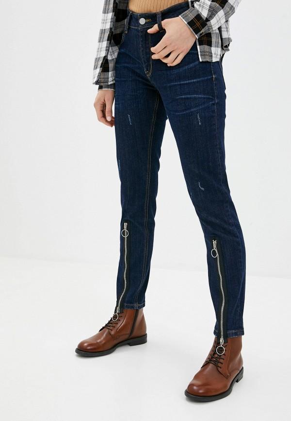 женские джинсы скинни tom farr, синие