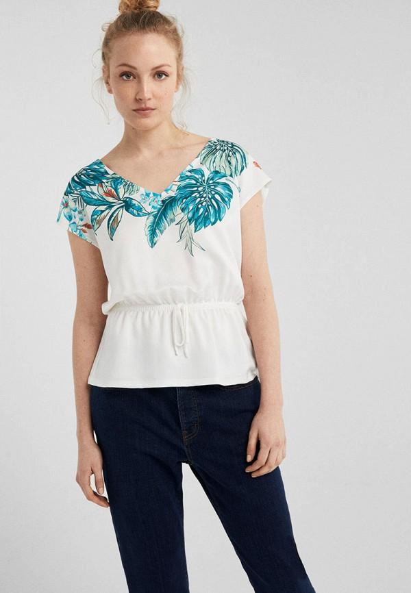 женская футболка springfield, разноцветная