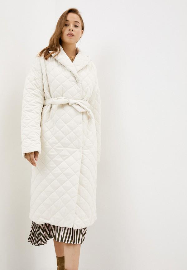 женская утепленные куртка zarina, белая