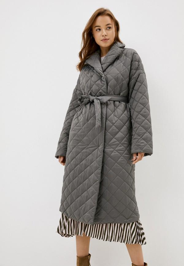 женская утепленные куртка zarina, серая