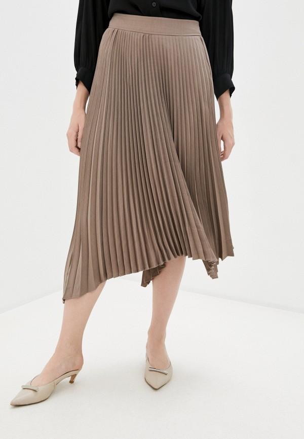 женская плиссированные юбка zarina, бежевая