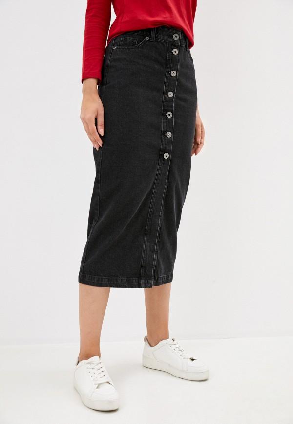 женская джинсовые юбка zarina, серая