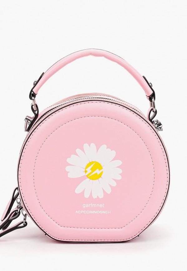 женская сумка через плечо артми, розовая