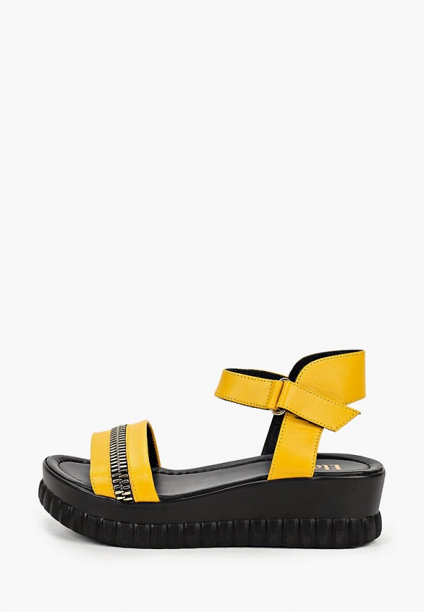 женские сандалии eletra, желтые