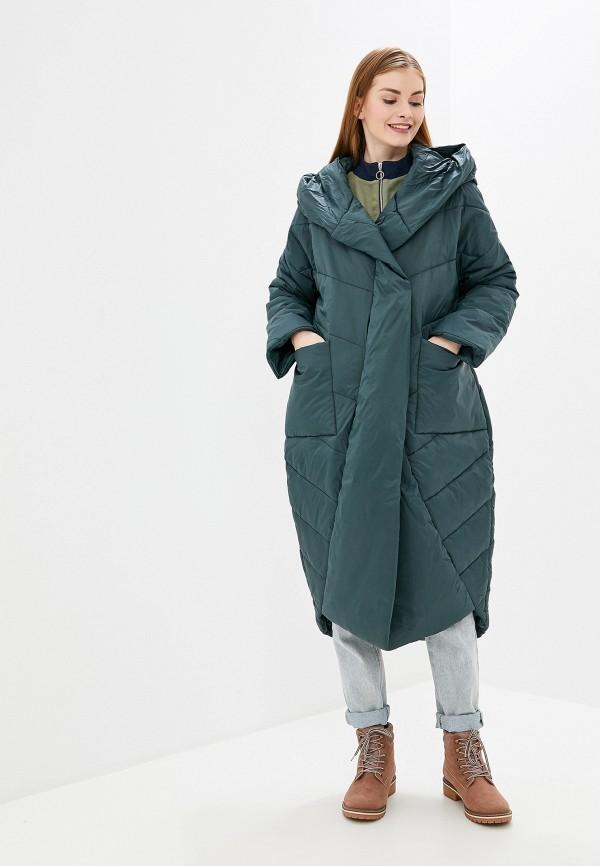 женская утепленные куртка tom farr, зеленая