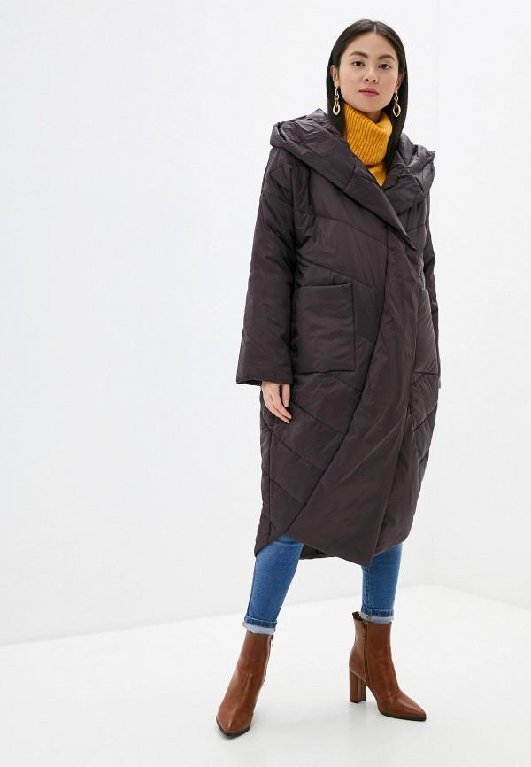 женская утепленные куртка tom farr, коричневая
