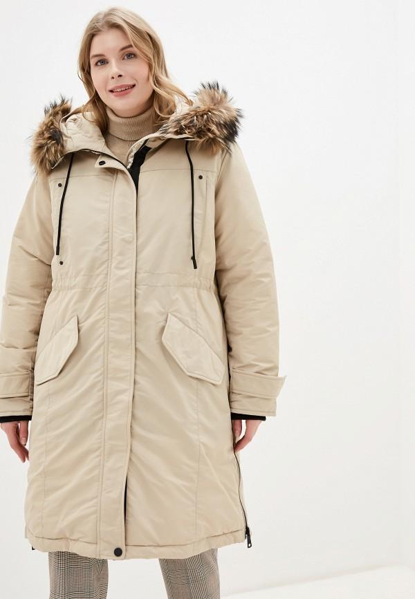 женская утепленные куртка tom farr, бежевая