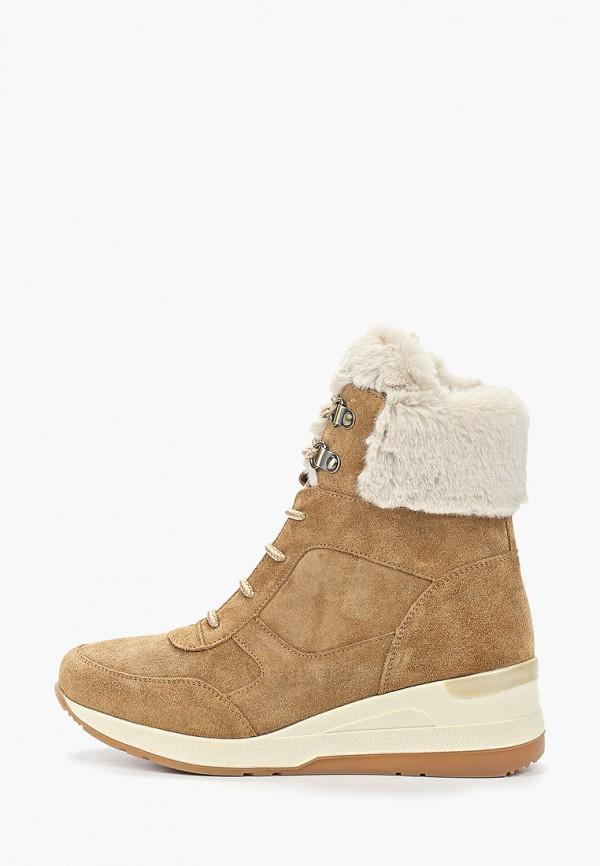женские высокие ботинки ralf ringer, коричневые