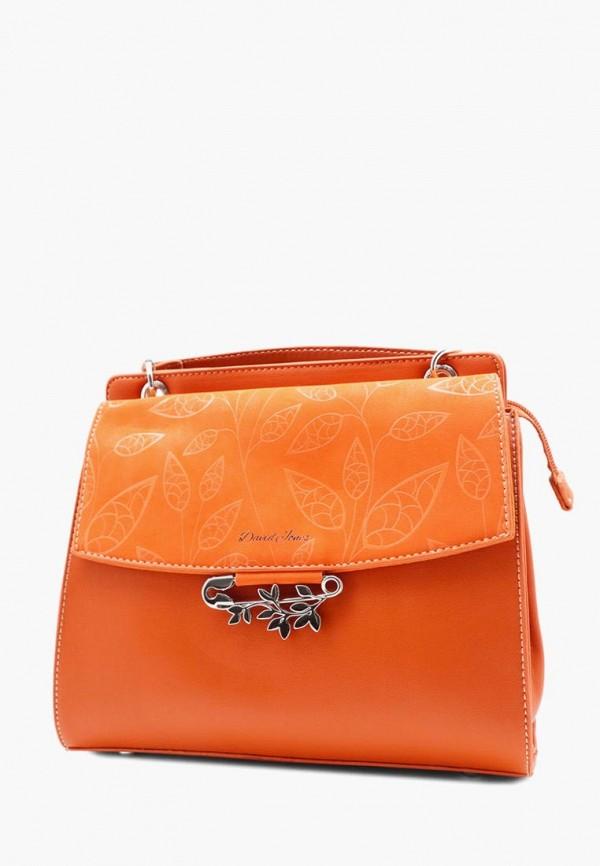 женская сумка david jones, оранжевая