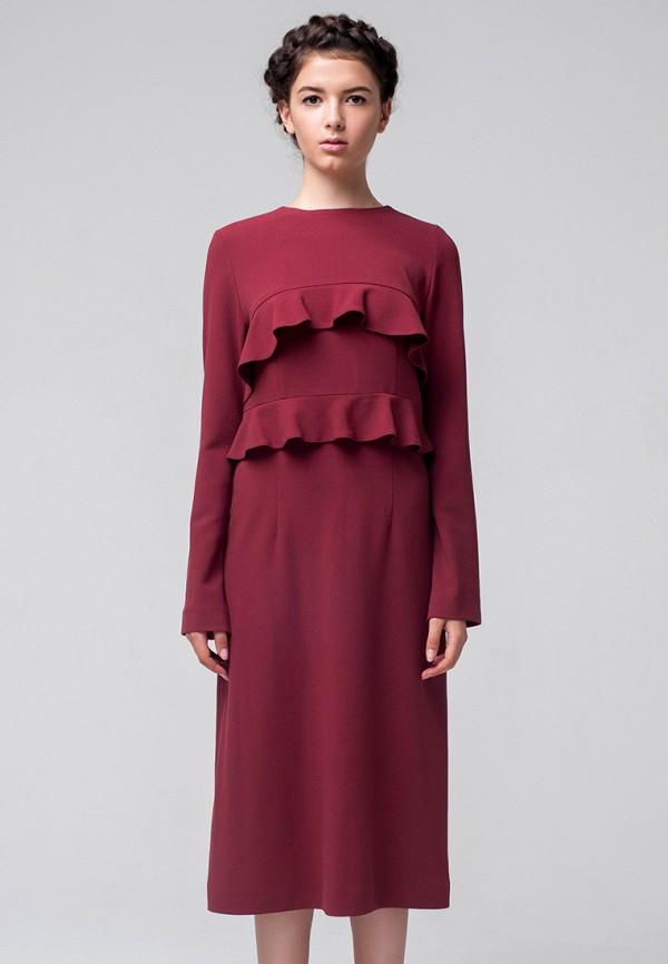 женское повседневные платье minimally, бордовое