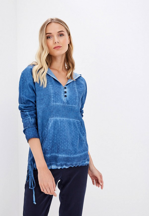 Блуза Agenda цвет синий