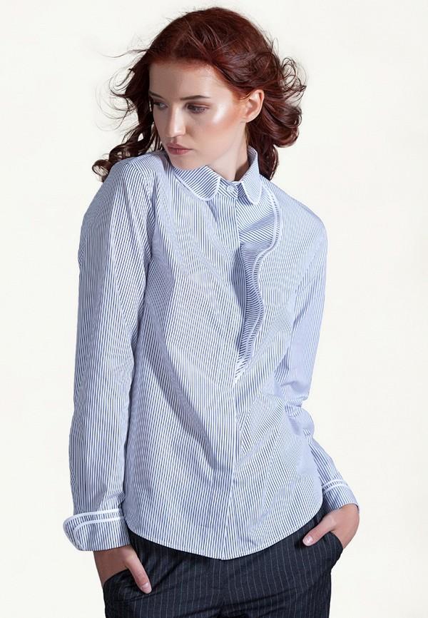 женская рубашка с длинным рукавом strygina, синяя