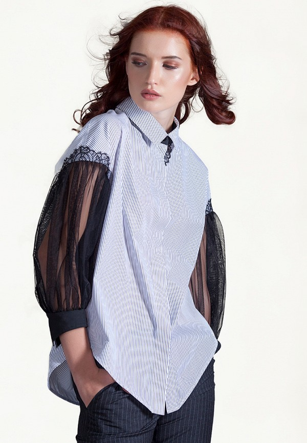 женская блузка strygina, синяя