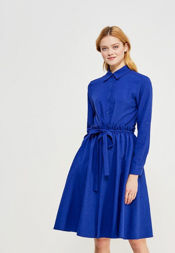 Купить Платье Мария Браславская, Dr-NewSafari-vasilek, mp002xw1f67o, синий, Осень-зима 2017/2018