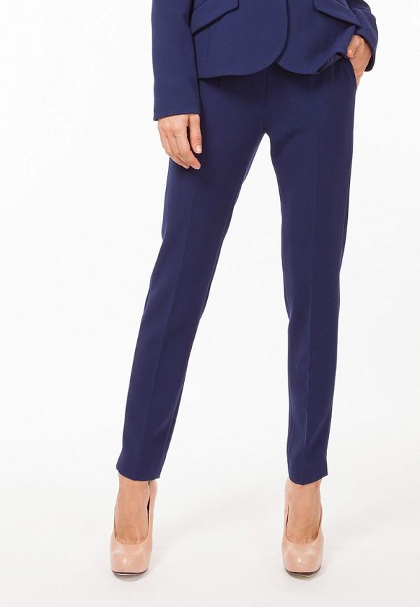 женские классические брюки vladi collection, синие