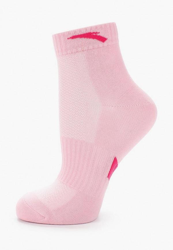 женские носки anta, розовые