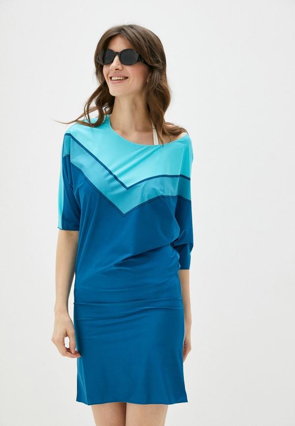 женское пляжные платье charmante, синее