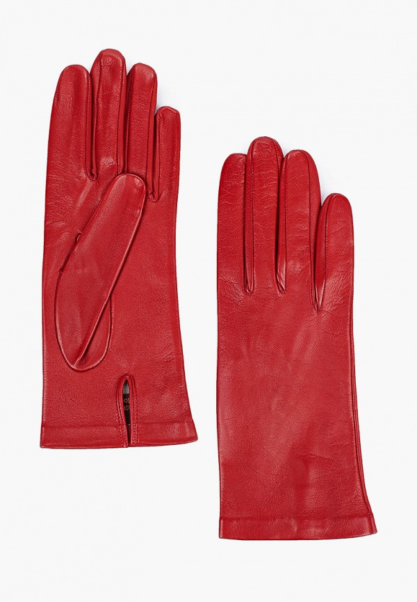 женские кожаные перчатки sermoneta gloves, красные