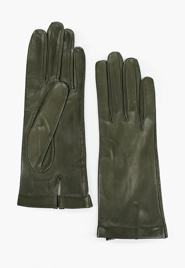 женские кожаные перчатки sermoneta gloves, хаки