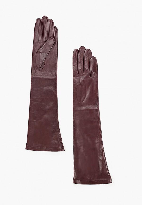 женские кожаные перчатки sermoneta gloves, бордовые