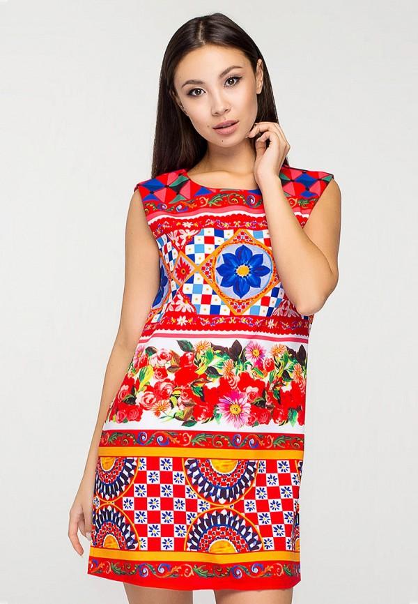 женское повседневные платье elena pokalitsina, красное