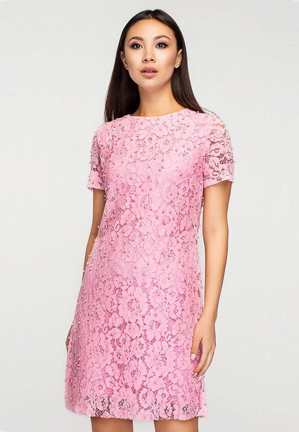 женское повседневные платье elena pokalitsina, розовое