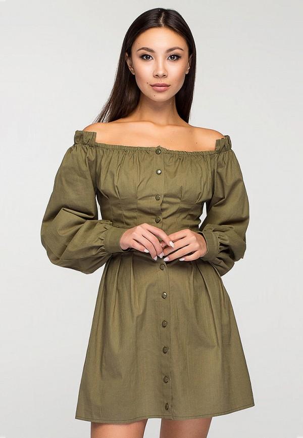 женское платье elena pokalitsina, хаки