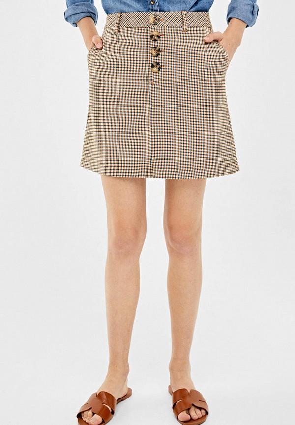 женская юбка springfield, бежевая
