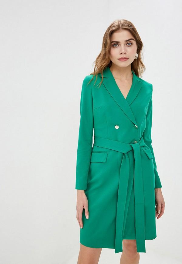 женское платье self made, зеленое