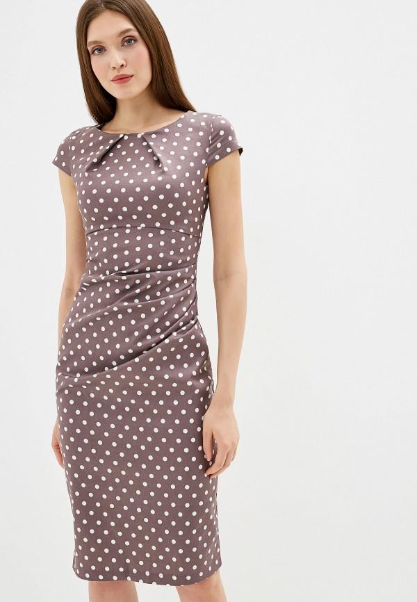 Платье D&M by 1001 dress D&M by 1001 dress MP002XW1G46P платье 1001 dress цвет светло коричневый темно бежевый dm00204 размер l 46
