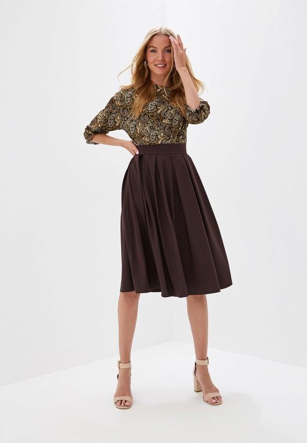 Платье D&M by 1001 dress цвет коричневый  Фото 2