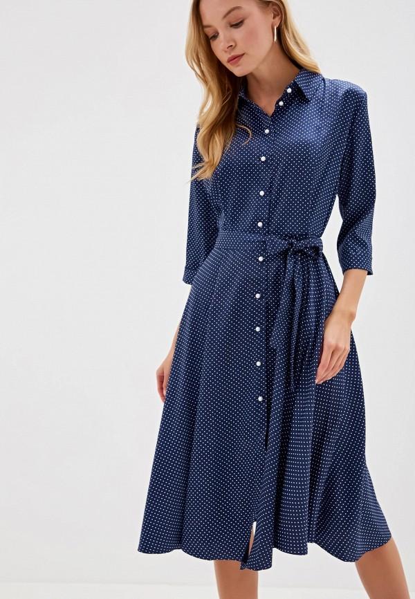 Фото - Женское платье Victoria Kuksina синего цвета