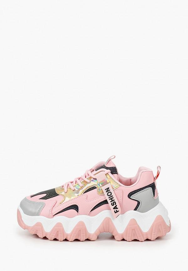 женские низкие кроссовки kellis, розовые