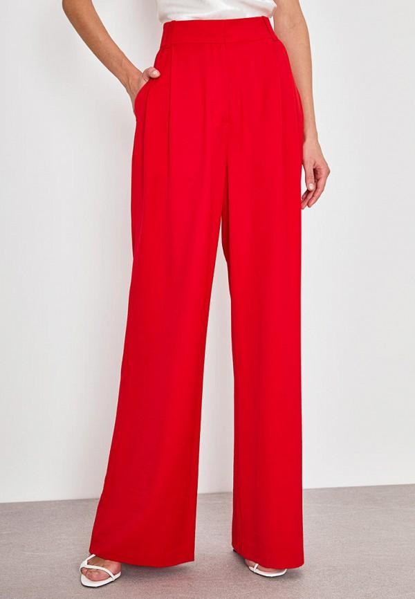 женские повседневные брюки lime, красные