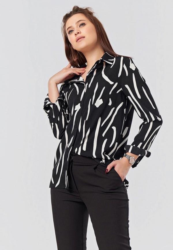 женская блузка с длинным рукавом fly, черная