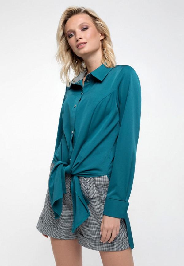 женская блузка ricamare, бирюзовая