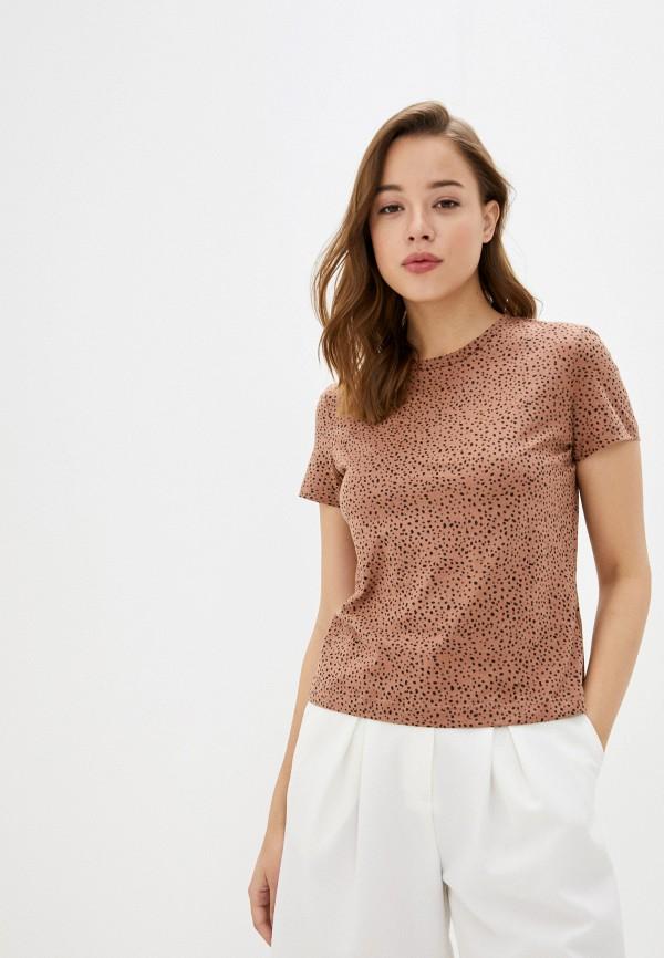 Фото - Женскую футболку Befree коричневого цвета